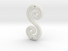 DoubleSpiral in White Natural Versatile Plastic