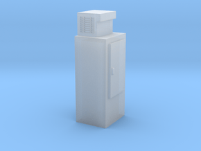 HO-Scale Upright Single Door Ice Cooler in Smooth Fine Detail Plastic
