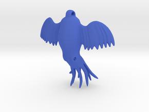 Flying Octopus Pendent in Blue Processed Versatile Plastic