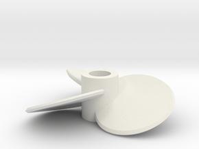 3b-23deg-100mm-circle blade-Fred in White Natural Versatile Plastic