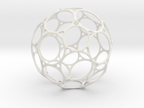 BuckyBallc60 12cm in White Natural Versatile Plastic