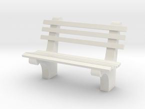 1:24 Park Bench Sixties (Not Full Scale) in White Natural Versatile Plastic
