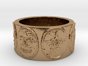 Scout Neckerchief Slide in Polished Brass