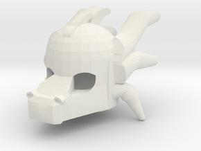 Dragon Head Mask Style in White Natural Versatile Plastic