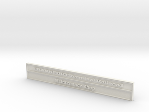 1:24 FTRR Maintenance Shed Sign in White Natural Versatile Plastic