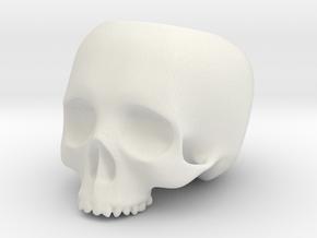 Skull Pot V1 - H100MM in White Natural Versatile Plastic