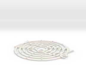 Yolo Coaster in White Natural Versatile Plastic