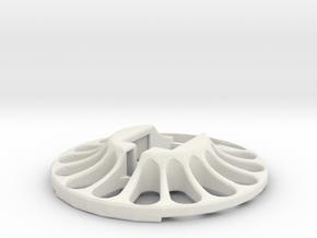 3D Scanner Turntable V23 - Holder in White Natural Versatile Plastic