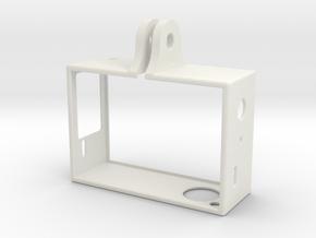 GoPro Hero 3 Frame - Flipped in White Natural Versatile Plastic