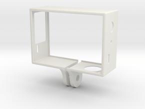 GoPro Hero 3 Frame - Linse Oben Rechts in White Natural Versatile Plastic