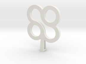 Forever Design Necklace in White Natural Versatile Plastic