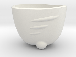 Espresso Shot SpaceShip Cup (no frame) in White Natural Versatile Plastic