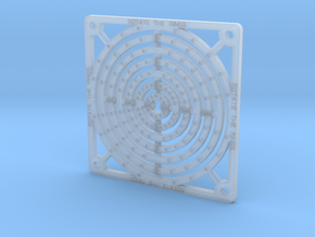 Tile - Rings in Smooth Fine Detail Plastic