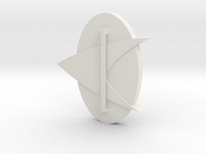 Trek Badge 1.7 in White Natural Versatile Plastic
