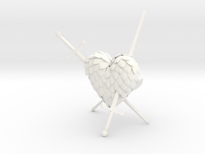Defeated Heart in White Processed Versatile Plastic
