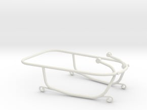 Time machine - 2 of 3 (railing) in White Natural Versatile Plastic