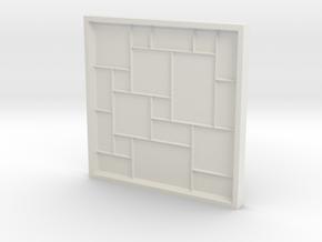 Versailles Pattern Mold in White Natural Versatile Plastic