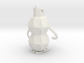 Robot Pencil Holder in White Natural Versatile Plastic