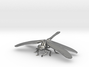 Dragonfly in Natural Silver