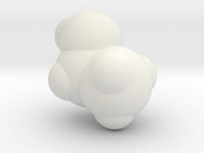 EthanolSpacefill Fix in White Natural Versatile Plastic