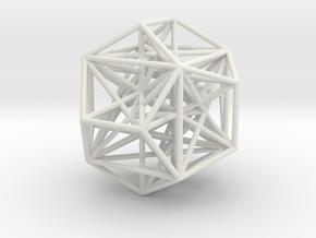 MorphoHedron9 in White Natural Versatile Plastic