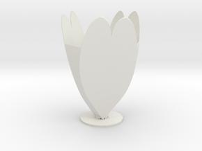 Valintine Vase in White Natural Versatile Plastic
