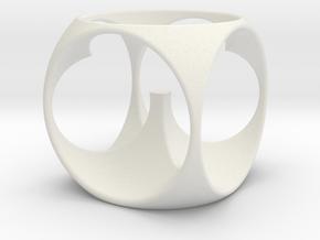 CW-003-EggCup in White Natural Versatile Plastic