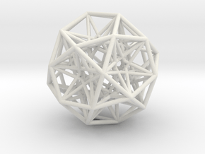 Sphere Large in White Natural Versatile Plastic