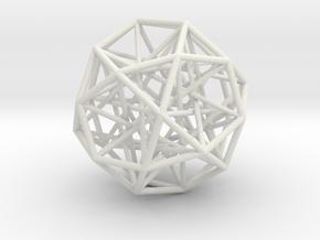 Sphere 2 Large in White Natural Versatile Plastic