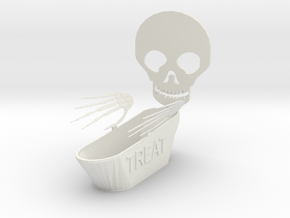 Trick Or Treat Bowl in White Natural Versatile Plastic