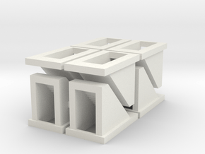 Subway Stairs - Tscale in White Natural Versatile Plastic