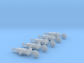 5x circle blade weapons in Smooth Fine Detail Plastic