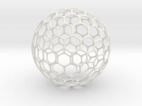 Geo-ball (5cm) in White Natural Versatile Plastic