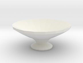 water orniment/ bird bath in White Natural Versatile Plastic