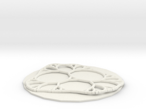 Leaf Vein Network  in White Natural Versatile Plastic