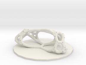 Bow Tie Network  in White Natural Versatile Plastic