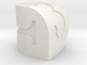 D3 Berylium in White Natural Versatile Plastic
