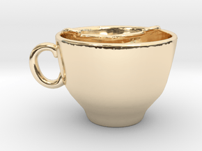 Moustache Cup in 14K Yellow Gold