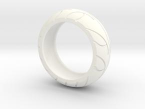Street Bike Tread Ring Size 10 in White Processed Versatile Plastic