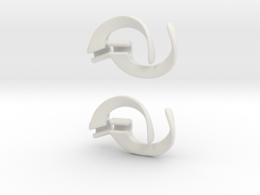 EarPod Savers double pack for active people in White Natural Versatile Plastic