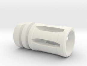 M16 Flash Suppressor in White Natural Versatile Plastic