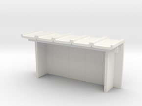 Betonfertigteil-Wartehalle TT in White Natural Versatile Plastic