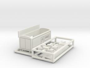 Kassenwagen 2 ohne Erker - 1:220 in White Natural Versatile Plastic