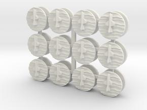 07OT02 24xSSM Markers in White Natural Versatile Plastic