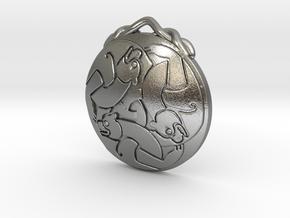 Merida's Keltic Bear Pendant in Natural Silver