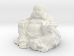 Large Buddha in White Natural Versatile Plastic