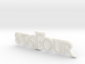 836Four Motorcycle Ornament in White Processed Versatile Plastic