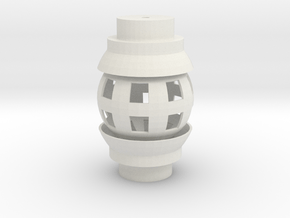 Ball Joint for 3/4 PVC Pipe in White Natural Versatile Plastic