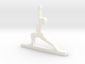 Yoga Pose in White Processed Versatile Plastic
