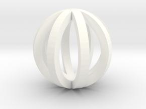 Sphere in White Processed Versatile Plastic